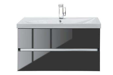 Sangallo Collection FVLAVA36 36 inch  Wall Mount Single Sink Vanity with 2 Soft Close Drawers in Gloss Lava