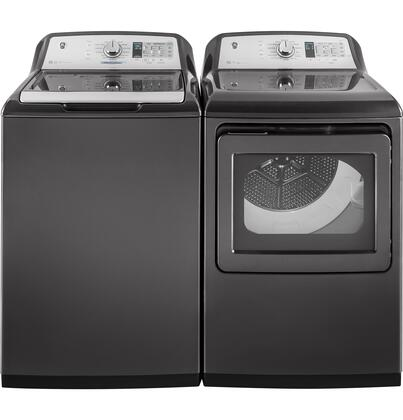 Top Load Smart GTW755CPMDG 27 Washer with GTD75ECPLDG 27 Electric Dryer Laundry Pair in