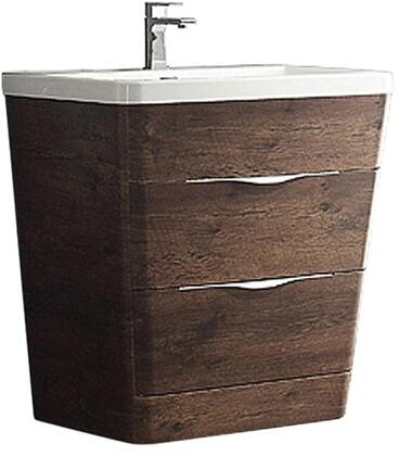 Milano Collection FCB8532RW-I 32 inch  Single Vanity with Integrated Acrylic Sink  2 Soft Closing Drawers and Tapered Shaped in