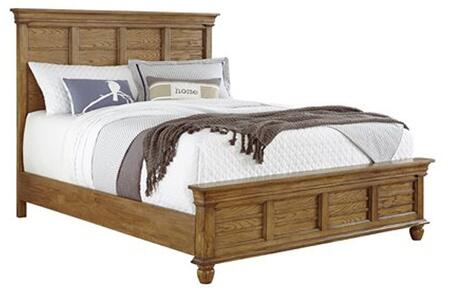 Riverwalk B133-34-35-78 Queen Bed with Headboard  Footboard and Side Rails in Aged