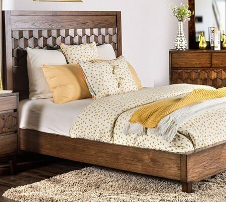 Kallisto CM7582CKBED Chestnut Brown Wood Cal King Bed by Furniture of America