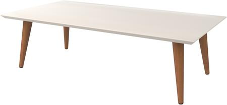 89452 Utopia 11.81 inch  High Rectangle Coffee Table with Splayed Legs in Off