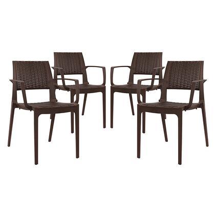 Eei-2414-cof-set Astute Dining Set Set Of 4  In