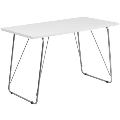 NAN-JN-2956-WH-GG White Computer Desk with Silver