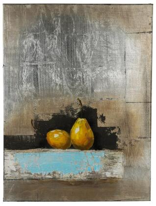 40877 Pears in Hand Painted  Textural Paint on