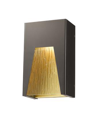 Millenial 561S-DBZ-GD-CSL-LED 6 1 Light Outdoor Wall Light Contemporary  Metropolitan  Modernhave Aluminum Frame with Bronze Gold finish in