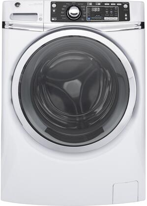 GFW480SSKWW 28 Front Load Washer with 4.9 cu. ft. Capacity  Steam Cycle  Time Saver and LED Light  in