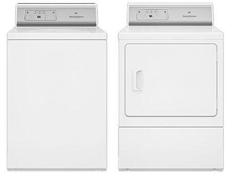 """White Top Load Laundry Pair with AWNE92SP 26"""" Washer and ADGE9RGS 27"""" Gas"""
