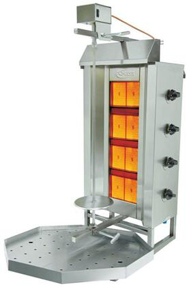 AXVB4 Gas Vertical Broilers with 44382 BTU  Meat Capacity of 176 Lbs  in Stainless