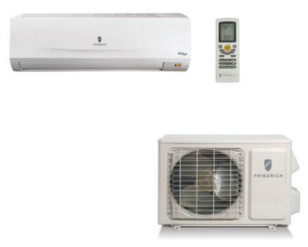 MM12YJ 30 Wall-Mounted Ductless Split System with Heat Pump  11800 Cooling BTU  13 000 Heating BTU  Optimum Air Flow  Continuous Air Sweep  Auto