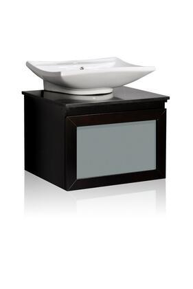 WM3-36 Belmont D cor Newport single vessel sink bathroom