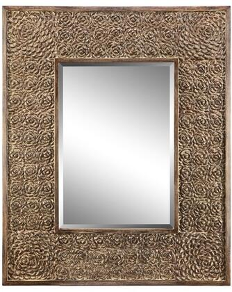 Roslyn Villa Collection 13436 57 inch  x 46 inch  Wall Mirror with Open Braid Design  Metal Frame and Powder Glaze in