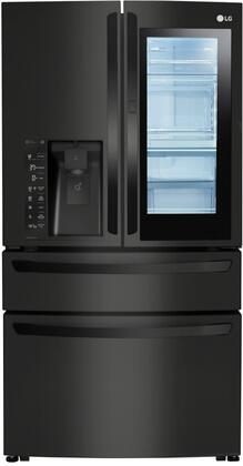 LMXC23796M 4 Door French Door Refrigerator with 23 cu. ft. Capacity  Counter Depth  and InstaView  in Black Stainless