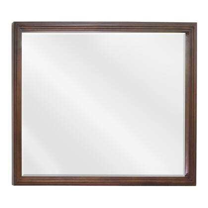 MIR029-48 Bath Elements 44 inch  x 34 inch  Large Walnut Compton reed-frame Mirror with Beveled
