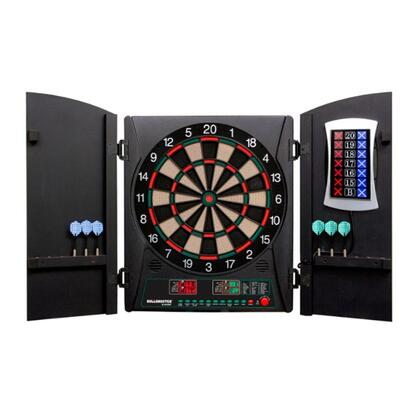 CMX1000 Cricket Maxx 1.0 Dartboard Cabinet and Board Set with Six Steel Tip Darts  Six Soft Tip Darts  Extra Tips  and AC