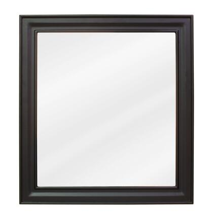 MIR049 Bath Elements 22 inch  x 24 inch  Black Jensen Mirror with Beveled