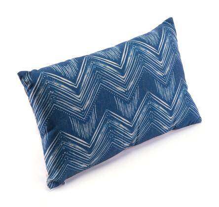 A11110 Ikat Pillow 3 Blue &