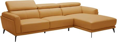 EK-LK385 Collection EK-LK385L-ORG 2-Piece Sectional Sofa with Left Arm Facing Sofa and Right Arm Facing Chaise in
