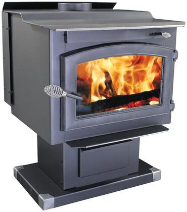 """Performer TR009 27"""" Wood Stove with 119 000 BTUs Heating Up to 2 200 sq. ft. 20"""" Log Length Blower Included Air Wash Glass EPA Certified Heavy Cast Iron"""