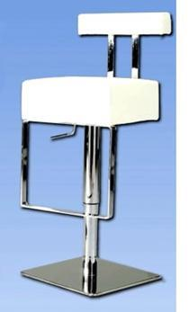 0812-AS-WHT Pneumatic Gas Lift Adjustable Height Swivel