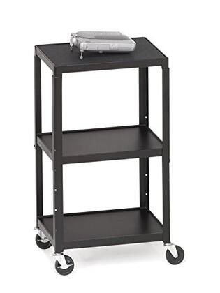 A2642E Adjustable AV Cart with 2-Outlet Electrical