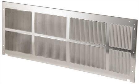 "SGK01B 42"" Exterior Stamped Aluminum Grille: Mill"