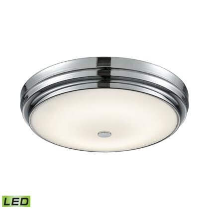 FML4750-10-15 Garvey Round LED Flushmount In Chrome And Opal Glass -