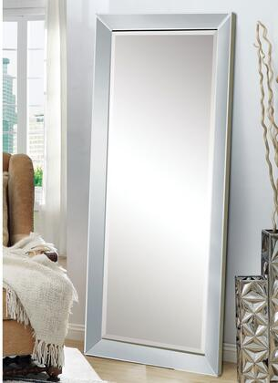 Lena Collection 97234 32 inch  x 73 inch  Floor Mirror with Beveled Frame and Medium-Density Fiberboard