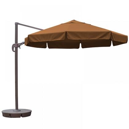 NU6555 Freeport 11-ft Octagon Cantilever w/ Valance in Stone Sunbrella