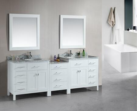 DEC076D-W-92 London 92 inch  Double Sink Vanity Set in
