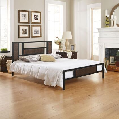 Celina Collection MFP01750TW Twin Size Platform Bed with Metal Frame and Modern Style in Black and