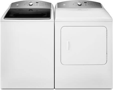 White Top Load Laundry Pair with 26-27132 28 Washer and 26-67132 29 Electric