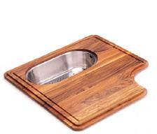 PS30-45SP Iroko Solid Wood Cutting Board for PSX110309/PSX1103012 Sink with Integral