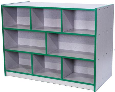 N30800FG Tot Double-Sided Storage Unit Gray Nebula Finish  Edge Color - Forest