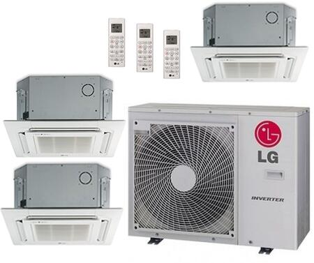 LMU30CHVPACKAGE29 Triple Zone Mini Split Air Conditioner System with 36000 BTU Cooling Capacity  3 Indoor Units  Outdoor Unit  and 3 PT-UQC Grille 704204