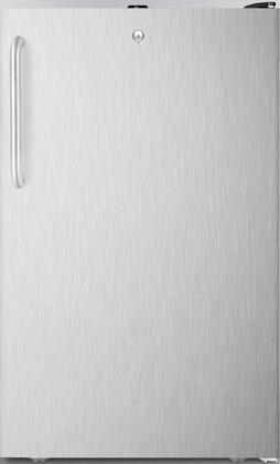 FS408BL7BISSTBADA 20 inch  ADA Compliant Upright Freezer with 2.8 cu. ft. Capacity  Factory Installed Lock  Manual Defrost  Pull-Out Drawers and Reversible Door  in