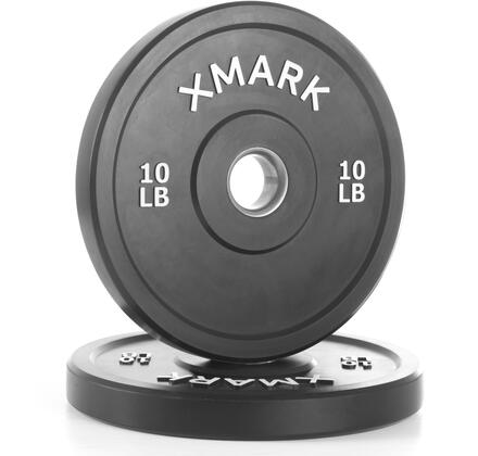 XM-3385-10-P XMark 10 lbs. Bumper Plates with Stainless Steel Inserts