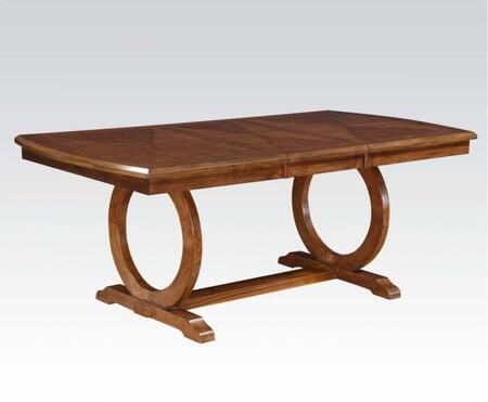 Kaiden Collection 71230 60 inch  - 78 inch  Dining Table with Rectangular Shape  Ring Base Design and Wood Frame in Walnut