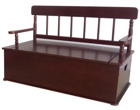 LOD33055 Cherry Finish Bench Seat w/