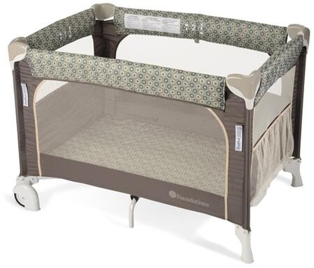 Sleepfresh Collection 1556287 41 Elite Portable Crib With Easy Fold  1 Ultra Plaush Mattress And Storage Pockets In