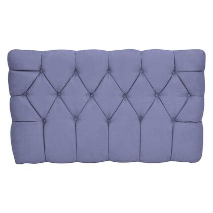 inch Meridia 11201GS Collection inch  Tufted Upholstered Twin Headboard with Metal Legs and Wood Frame in Grape
