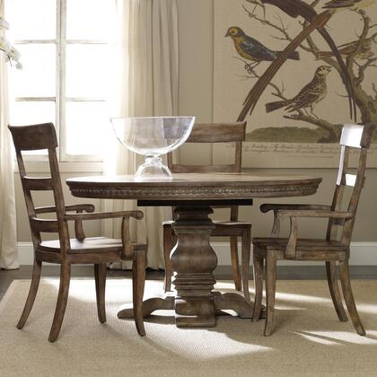 Sorella Collection 5107-75203-2AC2SC 5-Piece Dining Room Set with Dining Table  2 Arm Chairs and 2 Side Chairs in Antique