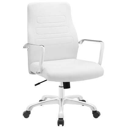 EEI-1531-WHI Depict Mid Back Aluminum Office Chair in White