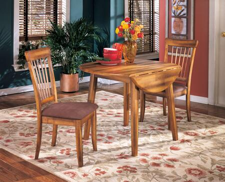 Berringer Collection 3-Piece Dining Room Set with Round Dining Table and 2 Side Chairs in Rustic