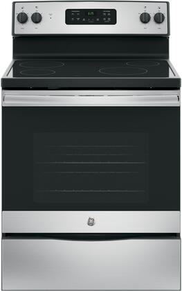JB625RKSS 30 Star K Freestanding Electric Range with 4 Radiant Elements  5.3 cu. ft. Oven Capacity  Ceramic Glass Cooktop  Storage Drawer  Dual