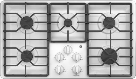"GE 36"" Gas Cooktop White JGP3036DLWW"