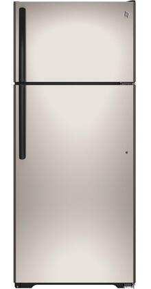 GE 17.5 Cu. Ft. Frost-Free Top-Freezer Refrigerator Silver GTE18CCHSA