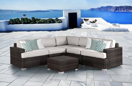 SUN-4003 Lucia 6 Piece Sectional Set in