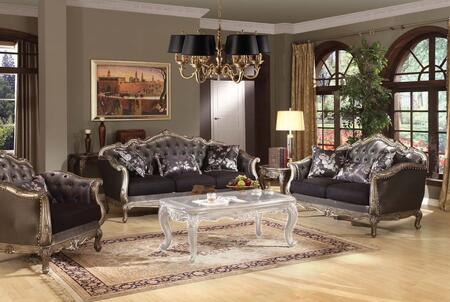 Chantelle 51540SLC 3 PC Living Room Set with Sofa + Loveseat + Chair in Antique Platinum