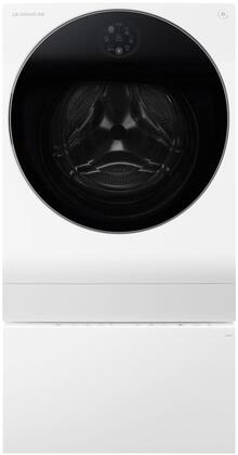 3-Piece Laundry Set with LUWM101HWA 24 inch  Washer/Dryer Combo  LUWD1CW 24 inch  SideKick Pedestal and AM501YWM1 Air